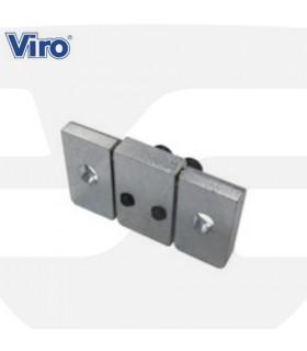 """Accesorio fijación puertas basculantes candado """"Condor"""" cilindro europeo, VIRO"""