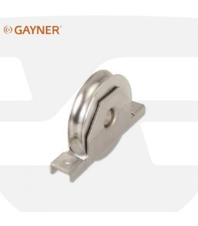 Ruedas con soporte encastar canal U. Inox, Gayner