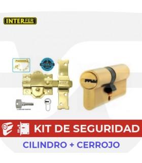 Conjunto cerrojo Seguridad 31S + Cilindro Seguridad,  INTER