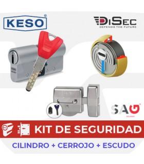 Kit KESO 8000Ω MASTER+ Cerrojo SAG EP50 + Escudo DISEC ROK BD280MRL