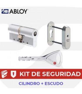 Kit Cilindro Alta seguridad Protec 2 con Escudo estrecho, Abloy