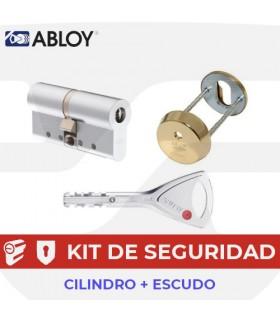 Kit Cilindro Alta seguridad Protec 2 con Escudo embutir, Abloy