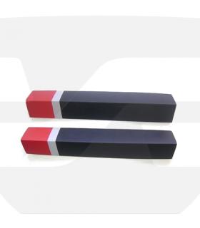 Protector de columnas esquinera ángulo recto tricolor de 750x190x20mm . 1 Uds, serie PC015, toptop