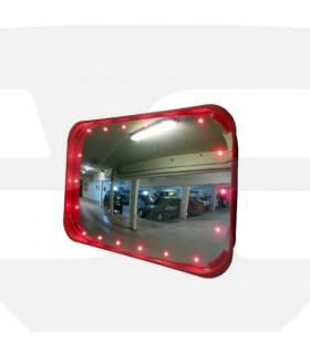 Espejos vigilancia 2 direcciones luminoso rectangular , Divetis