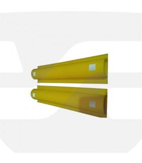 Tope de aparcamiento de pared de PVC de 500x120x65mm