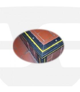 Protector de escaleras antideslizanes de 70x45mm PVC, TT027, TopTop