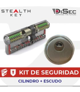 KIT Cilindro STEALTH KEY + Escudo DISEC BD280MR ST