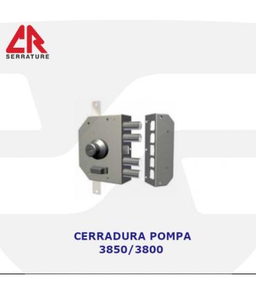 Cerradura Sobreponer Cilindro Pompa, 3 puntos, 3850, CR