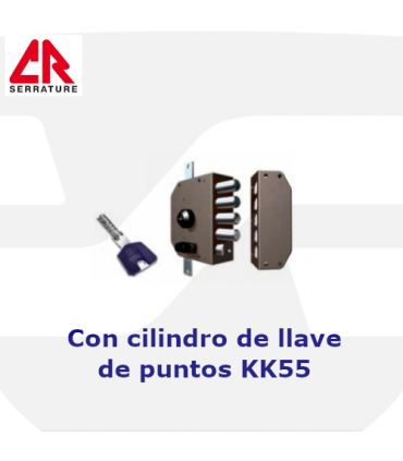 Cerradura Sobreponer Cilindro Pompa de llave de puntos, 3 puntos, 3450MCK55, CR