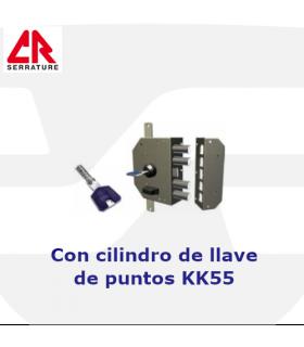 Cerradura Sobreponer Cilindro Pompa de llave de puntos, 3 puntos, 3450K55, CR