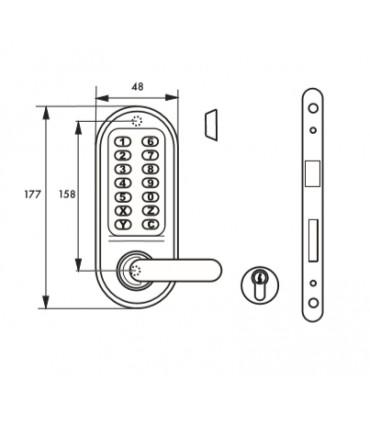 Cerradura combinación mecánica Doble manivela. Thirard