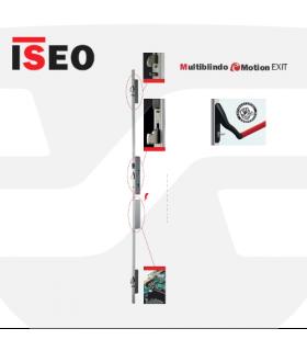 Cerradura alta seguridad motorizada  embutir 3P, Multiblindo eMotion Exit, ISEO