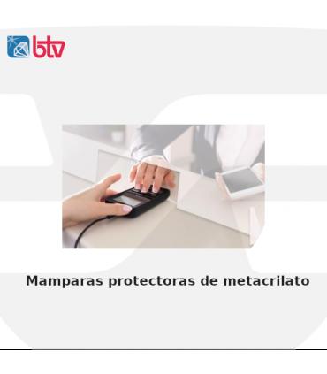 Mamparas protectoras de metacrilato