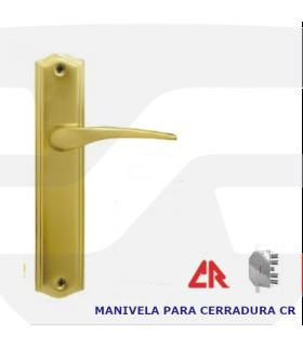 Manivela con placa para cerraduras CR