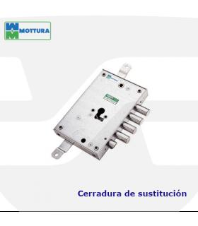 Cerradura sustitución puertas acorazadas de llave de gorjas a perfil europeo, MOTTURA