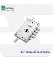 Cerradura sustitución puertas acorazadas de llave de gorjas a perfil europeo,85571 de MOTTURA