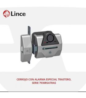 Cerrojo sobreponer seguridad trasteros con alarma 7930RSATRAS, LINCE
