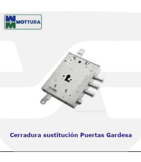 Cerradura sustitución puertas acorazadas Gardesa de llave de gorjas a perfil europeo de MOTTURA