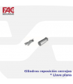 Cilindros reposición cerrojos llave plana de FAC