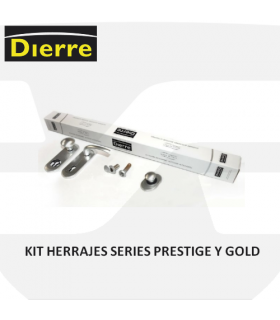 Kit herrajes de las puertas Dierre, series Prestige y Gold