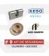 Kit Cilindro KESO 8000 Ω2 Ultra + Escudo Azzi Premium roscado