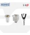 Cierre persiana metálica  Serie CP con llave Keso 8000, SAG Seguridad