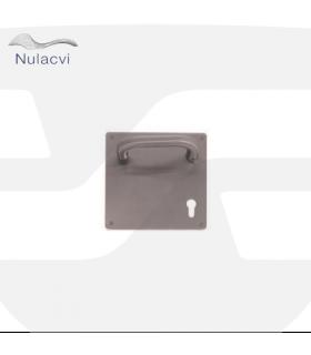 Manivela acero inox con placa cuadrada 170x170, Nulacvi