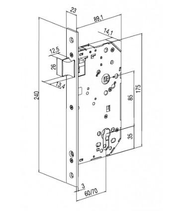Cerradura cortafuego Serie 2035F y 2037F, TESA
