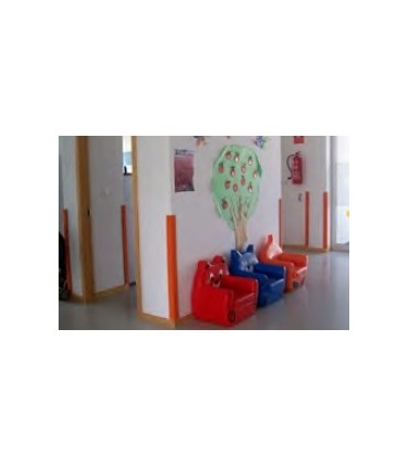 Esquinera de protección infantil sin cantear de 1.000x120x10, TT102