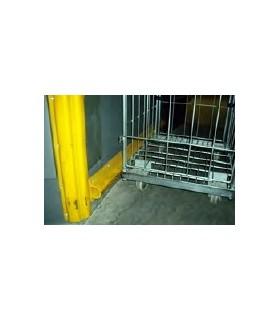 Protector de rampas y paredes doble hueco, de 190mm ancho en PVC, TT026, TOPTOP