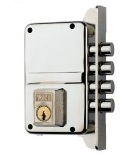 Cerradura de alta seguridad desobreponer deun punto de cierre, Mod.7/7.0, azbe, AZBE
