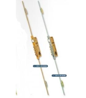 CERRADURA SEGURIDAD EMBUTIR MULTIPUNTO 5p (3H2V). FRENTE U 20 mm, LINCE