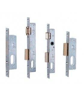 Cerradura embutir métalica Serie 75/76, entrada 15, Iseo