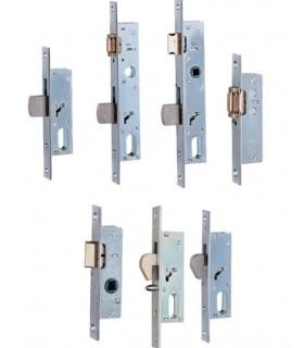 Cerradura embutir métalica Serie 75/76, entrada 20, Iseo