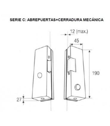 Abrepuertas eléctricos sobreponer cristal, Serie C , DORCAS