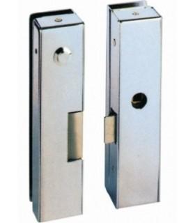 Abrepuerta eléctrico + cerradura, sobreponer cristal, Serie C , DORCAS