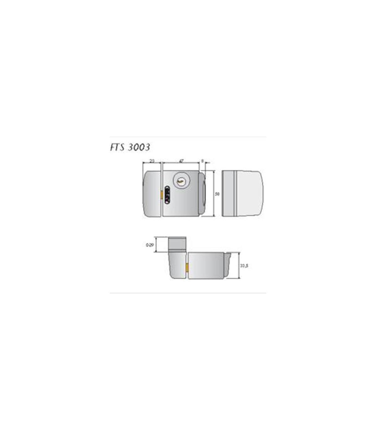 Cerrojo de presi/ón con soporte para ventana o puerta corredera blanco Abus FTS 3003 W