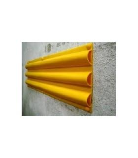 Protector de Rampas y Paredes Triple Hueco de 300mm ancho PVC, TT028, toptop