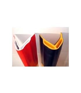 Protector esquinera de 100x100 doble hueco, de 1000mm en PVC, TT023, TOPTOP