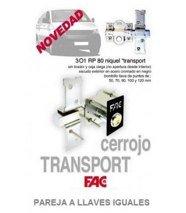 Cerrojo seguridad 301 RP/80 TRANSPORT, Especial furgonetas, FAC SEGURIDAD