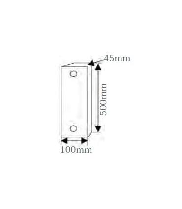 Tope de aparcamiento de pared adhesivado de 500x100x45, TT-014, TopTop
