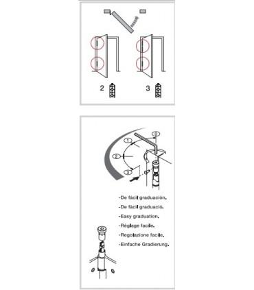 Bisagra muelle simple accion SA120, Justor