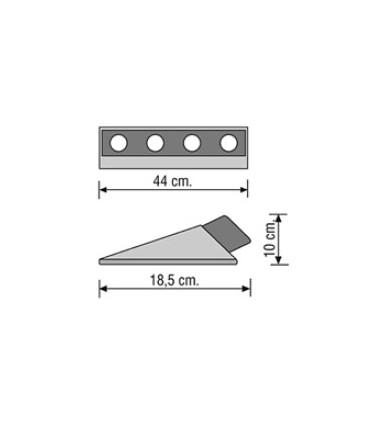 Tope de aparcamiento de suelo Proteccar, PC-016, TopTop