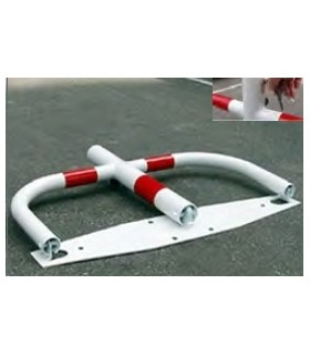 Barrera de parking robusta AL roja/blanca, TT-020, TopTop