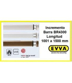 Incremento longitud máxima Barra transversal BR 4300, EVVA