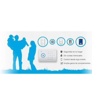 Kit alarma con módulo SIM GSM de comunicación, Inn Solutions