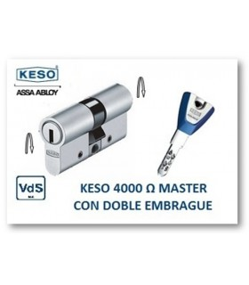 CILINDRO ALTA SEGURIDAD 4000Ω Master con Doble embrague, KESO
