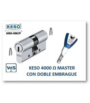 CILINDRO ALTA SEGURIDAD 4000Ω Master con Doble embrague, KESO
