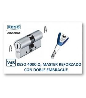 CILINDRO ALTA SEGURIDAD 4000Ω Master Reforzado con doble embrague, KESO