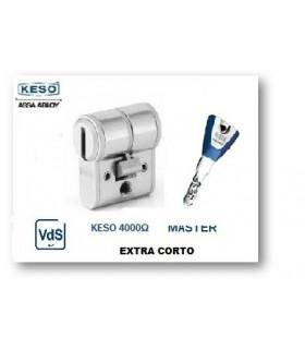 Cilindro Alta Seguridad, Extra corto, Perfil europeo 4000Ω Master, KESO